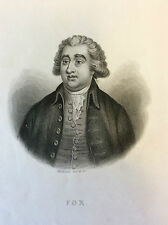 Fox Charles homme politique Britanique impression Gilquin et Dupain circa 1859