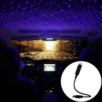 USB Car Atmosphere Lamp Interior Ambient Star Light Starry Projector LED I7Q1