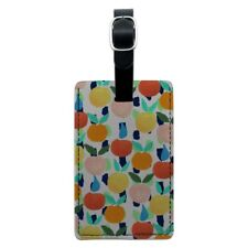 Colorful Citrus Tropical Fruits Pattern Rectangle Leather Luggage Card ID Tag