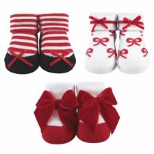Hudson Baby Girl Socks Giftset, Red Bows 3-Piece