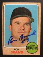 Ron Brand Astros Signed 1968 Topps Baseball Card #317 Auto Autograph