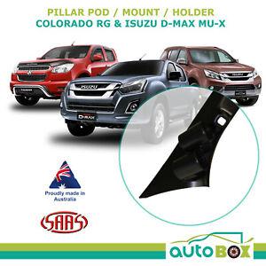 SAAS Dual Gauge Pillar Pod HOLDEN COLORADO RG Series 1, ISUZU D-MAX MU-X 2012-16