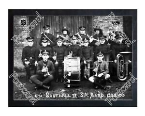 Historic Southall II Salvation Army Band in London, circa 1922 Postcard