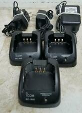 Lot of 3 Icom Bc-160 Chargers for Icom Radios with Power Cords