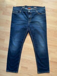 Jeans von Alberto Dunkelblau light denim Gr. 40/32 Reißverschluss TOP-Zustand