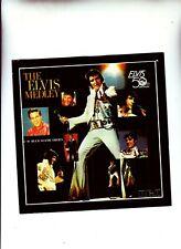 ELVIS PRESLEY THE ELVIS MEDLEY AND BLUE SUEDE SHOES 1983   RARE 45