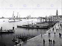 THE ROYAL YACHT HOHENZOLLERN IN VENICE ITALY 1896 OLD BW PHOTO PRINT 744BWB