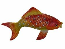Bejeweled GoldFish Statue