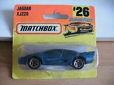 Matchbox Jaguar XJ220 in Blue on blister