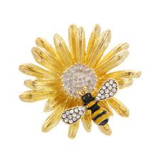 Fashion Daisy Honeybee Brooch Pin Collar Badge Corsage Jewelry Women Accesso  Tu