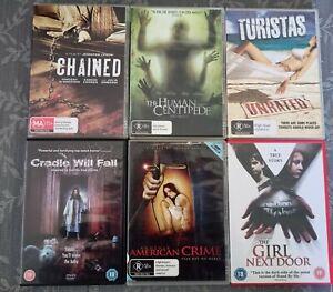 X6 R18+ Horror/Gore Bulk Bundle DVDs Another American Crime The Girl Next door