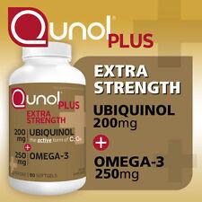 Qunol Plus Heart Support Ubiquinol 200 mg CoQ10 with Vitamin E, 90 Softgels