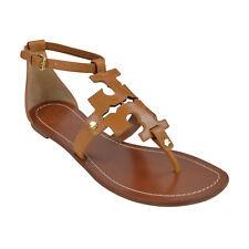 NIB Tory Burch PHOEBE Flat Thong Sandals Royal Tan 7.5