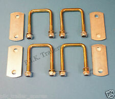 FREE P&P* 4 of 50mm x 50mm U Bolt HIGH TENSILE & Plates - Trailers   #TR