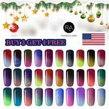 RAINBOW ABBY 8ml Thermal Color Changing Soak Off UV LED Gel Nail Polish Xmas US