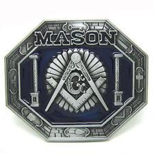 Masonic Silver Belt Buckle Man Black No Leather Vintage Silver Alloy New