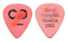 Hoobastank Dan Estrin Signature Concert-Used Orange Guitar Pick - 2002 Tour