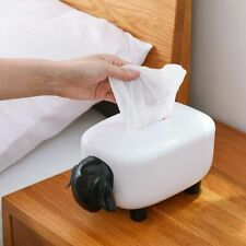 Sheep Tissue Box Paper Towel Dispenser Living Room Napkin Pumping Modern White