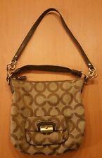 COACH Handbag Kristin Signature Op Art Sateen Hobo Purse Brown L1082-16811