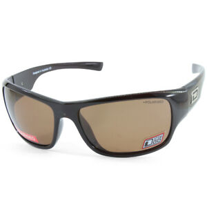Dirty Dog Circuit 53355 Polished Dark Brown/Brown Polarised Sports Sunglasses