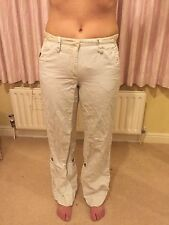 MarcCain Off White Ladies Trousers Cotton No 2 10 Or 12 Designer Italian