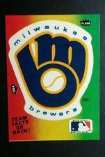 MILWAUKEE BREWERS 1983 SEASON TOTALS RAINBOW BASEBALL TRADING CARD STICKER
