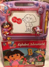 Dora The Explorer Alphabet Adventure Storybook & Magnetic Drawing Kit