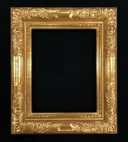 "5"" Wide  16"" x 20"" - Hand Carved Picture Frame Gilded In Genuine 22k Gold Leaf"
