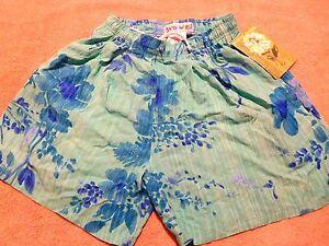 Jams World  FAB S drawstring Ranuculus  Hawaiian NEW NWT  womens shorts beach