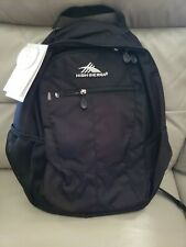NWT High Sierra Curve Backpack Black Water Repellent Free Shipping!