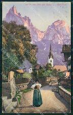 Bolzano Castelrotto Siusi allo Sciliar Costumi cartolina QT3173