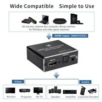 New HDMI to 4K HDMI SPDIF 3.5mm Audio Video Converter Extractor Splitter Adapter