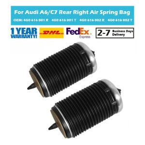 Pair Rear Air Suspension Spring Bag Fit Audi A6 Allroad A7 4GA 4GF 4G0616001K