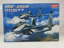 Academy MIG-29UB FULCRUM B Training Fighter 1/48 Scale Plastic Model Kit UNBUILT
