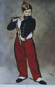 Edouard Manet The Fifer Vintage Original 1960s Lithograph