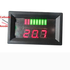LED Indicator Battery Capacity Tester Voltmeter 12V Lead-acid Lithium it