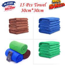 15x Car/Gym Towel Glass 30x30cm Microfibre Cleaning Cloth Microfiber Dish Au Pos