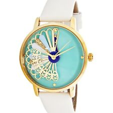 Kate Spade Women's Metro KSW1287 White Leather Quartz Fashion Watch