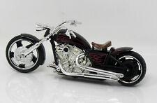 Modelo de Motocicleta 1:18 Acero Choppers Negro Motormax 76278