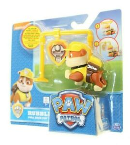 NICKELODEON PAW PATROL 3 PLUS RUBBLE PILL BACK UP CHILDREN'S TOYS NEW