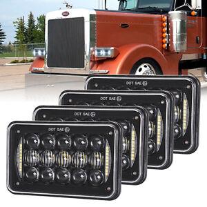 4x6'' LED Headlights for Kenworth T800 T400 T600 W900B W900L Classic 120/132 HK