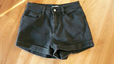 LADIES CUTE BLACK POLYCOTTON CASUAL SHORTS BY SUPRE - SIZE 10 CHEAP BARGAIN