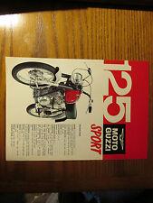 MOTO GUZZI 125cc SPORT DEALER LEAFLET BROCHURE PINUP