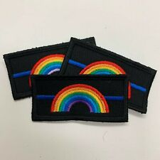 Thin Blue Line Rainbow Police Patch/Badge Hook Velcro Backed