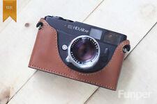 Fait main en cuir véritable demi Caméra Sac Étui Housse Pour Konica Hexar RF