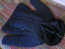 NEU Ulla Popken Parka Stepp Jacke 46/48 Web Pelz Kapuze schwarz dunkel Blau 129€