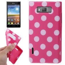 TPU Case für LG P700 Optimus L7 in pink mit weißen Punkten Hülle Schutzcase