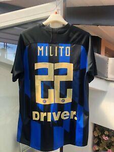 Maglia Calcio Originale Inter Milito 2019-20 M Milan-Inter-2-3