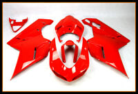ABS Plastic Red Fairings For Ducati 1098 848 1198 2007 09 2010 2011 2012 Cowling
