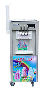 Eismaschine Softeismaschine Eiscreme Frozen Yogurt  Maschine ICM-G38 max. 2,4kW